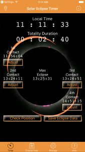 Foxwood Astronomy Launches 2017 American Solar Eclipse Timer Mobile App