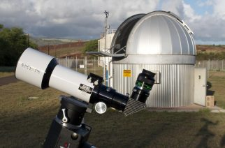 Image 1: The authors set up the Explore Scientific Essential Series 80-mm Apo to visually test the instrument's capabilities.