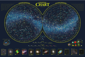 Celestialchart S 36 By 24 Inch Print Chart Of The Northern And Southern Hemispheres