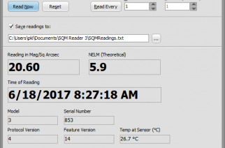 Knightware SQM Reader for Unihedron Sky Quality Meter