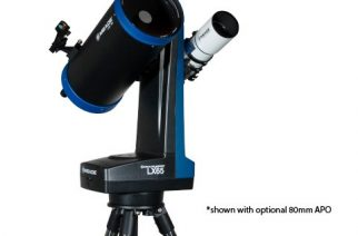 Meade's new LX65 8-inch ACF, shown also carrying an optional 80-mm apo.