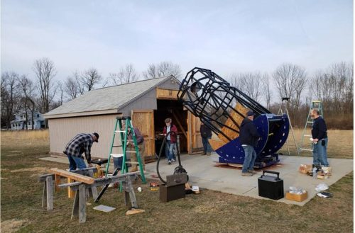 Huge 50″ Newtonian Telescope Installed in New Jersey