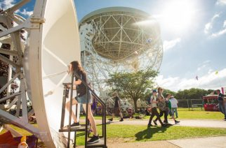 Jodrell Bank is the earliest radio astronomy observatory in the world still in existence. Photo courtesy of Jodrell Bank.