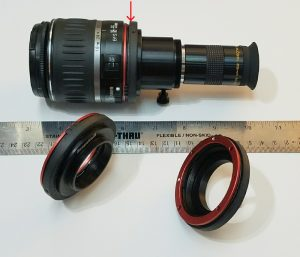Canon EOS telescope adapters