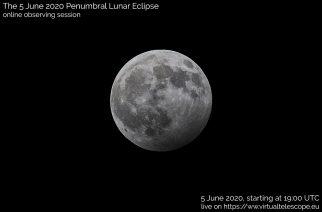 Virtual Telescope to Live Stream Penumbral Lunar Eclipse on June 5