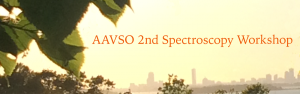 AAVSO Annual Meeting and Spectroscopy Workshop